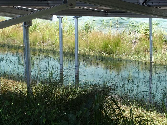 調整池を使った雨水対策